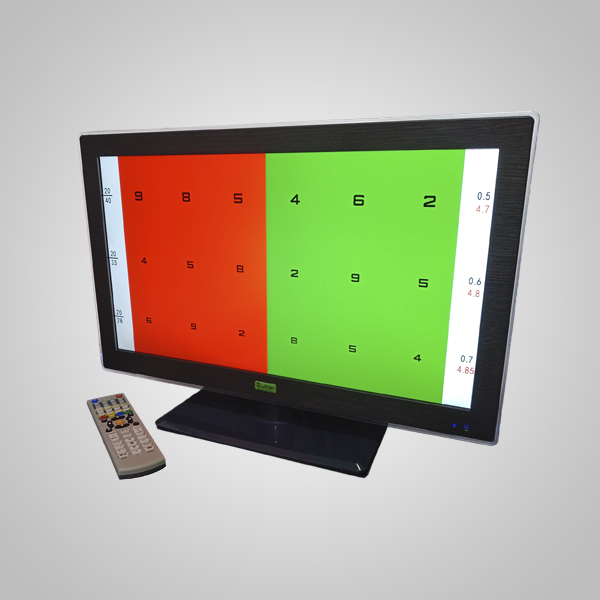 pantalla de agudeza visual